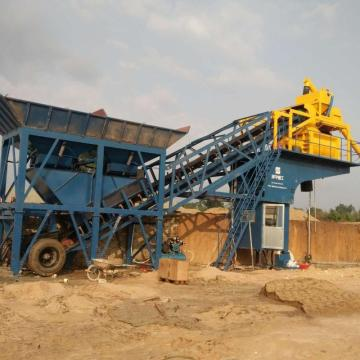 mini mobile concrete batching plant YHZS75/90