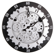 Large Grey Wall Clock for Office Decoration