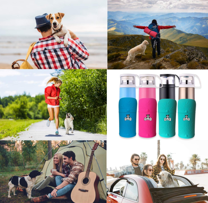 Insulated Convenient Dog Travel Water Bottle