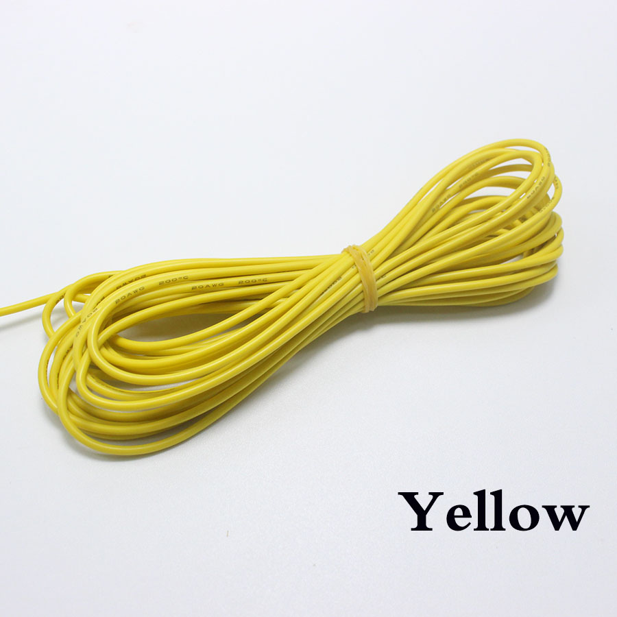 EClyxun 5meters 30 AWG Flexible Silicone Wire RC Cable 11/0.08TS Outer Diameter 0.8mm Electronic Wire Conductor DIY Electrical
