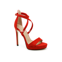 Red Cross Strappy High Heels for Women