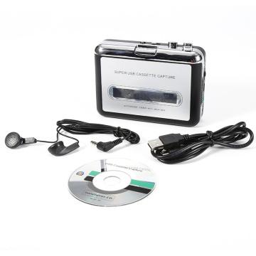 Cassette Recorders Players USB Portable Cassette Tape to MP3 CD Converter Capture Audio Music Player Digital Handheld Mini