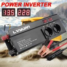 6000W Large Power Inverter EU Plug 3AC Outlets 4 USB Outing Car Inverter Converter инвертор 12v 220v преобразователь 12 220