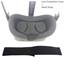 Lens Protective Cover Anti Scratch+Head Strap Weight Reduction Comfortable For Oculus Quest VR Glasses Easy Clean Accessories