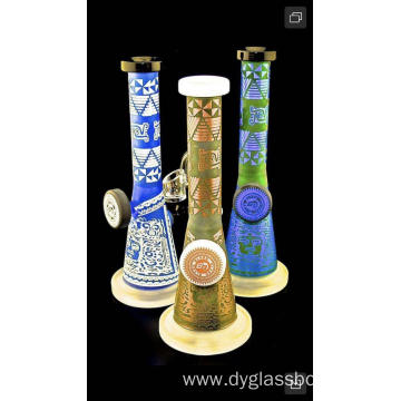 Unique Tower Shape Glass Smoking Bongs