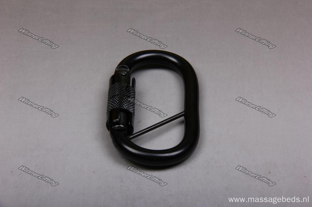 2.3T Heavy Duty Black-Coating Carabiner