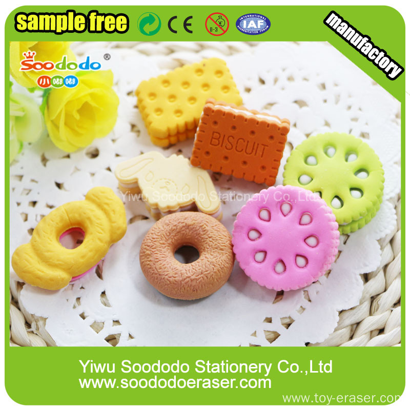 food rubber sets funny office stationery