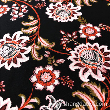 Rayon 30S Woven Fabric Normal Printed Poppy Design