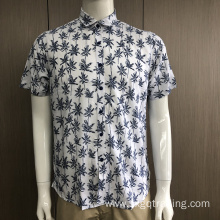 Men's print short sleeve shirt in summer