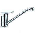 Long neck brass kitchen faucet tap swivel