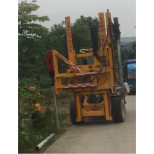 Highway guardrail construction pile driver honggong