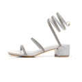 Strap Wraparound Ankle Block Heels Sandals