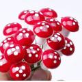 50 Pc Garden Decorations Mini Red Mushroom Shape Ornament Miniature Plant Pots Fairy Holiday Home Landscape Bonsai Christmas Dec