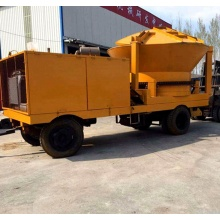 large Industrial wood shredder chipper