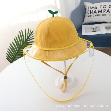 Yellow Little Grass Anti-droplet Hat for Children