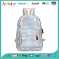 CRYBABY white laser backpack