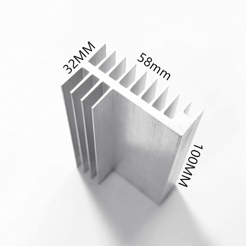 1pcs heatsink58*32-100mm aluminum Aluminum profile Electronic heat sink Semiconductor heat sink