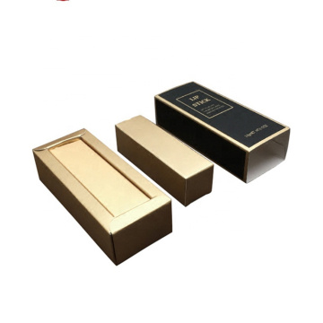 Wholesale Gold Paper Drawer Lipstick Custom Packing Box