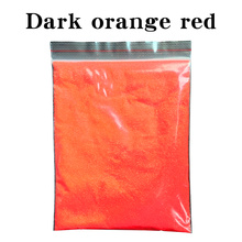 50g Dark Orange Red Glitter Powder Pigment Coating for Painting Nail Decorations Automotive Arts Cra