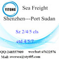 Shenzhen Port LCL Consolidation To Port Sudan