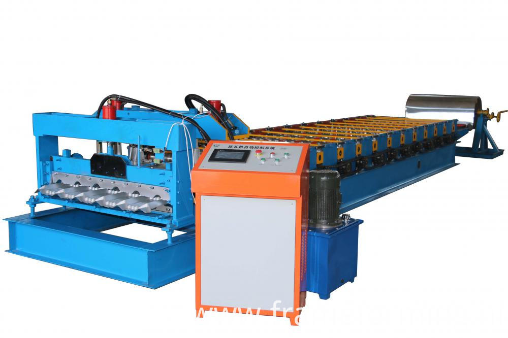 glazed tile roofing sheet roll forming machine 01