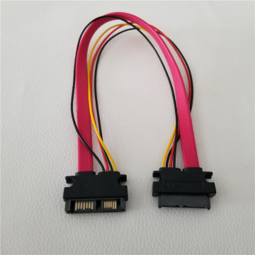 SATA 7+6Pin Male to Female Optical Drive Data Extension Power Cable for Hard Drive Notebook