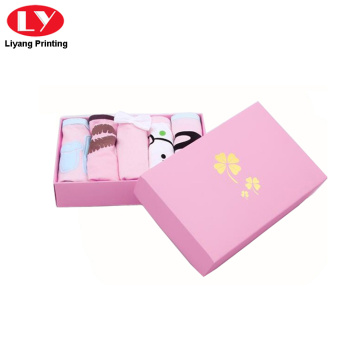 pink paper packaging underwear and scarf box