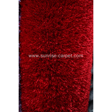Polyester Silk Shaggy Rug with Thick Yarn