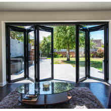 Lingyin Construction Materials Ltd aluminium tempered glass bifold folding door and windows
