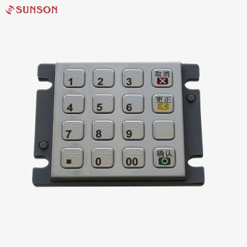 Payment Kiosk Spanish Braille PCI EPP Keyboard