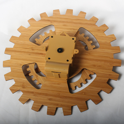 Bamboo Wheel Gear Wall Hanging Clocks