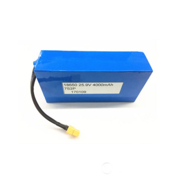 18650 25.9V 4000mAh Li-ion Battery for Toy LED