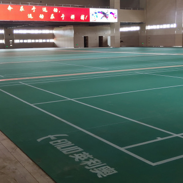 Indoor PVC badminton floor mat /badminton court floor