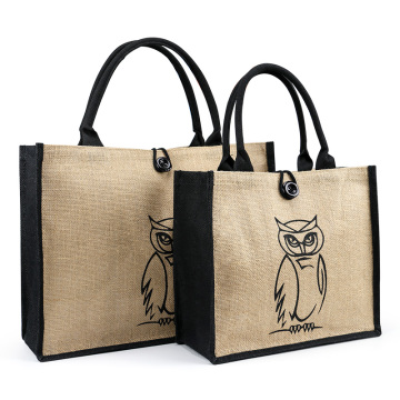 Shopping Jute Tote Bag