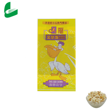 Printing food paper packaging brown microwave popcorn bags