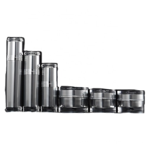 High grade black acrylic cosmetic bottles/ jars with good price