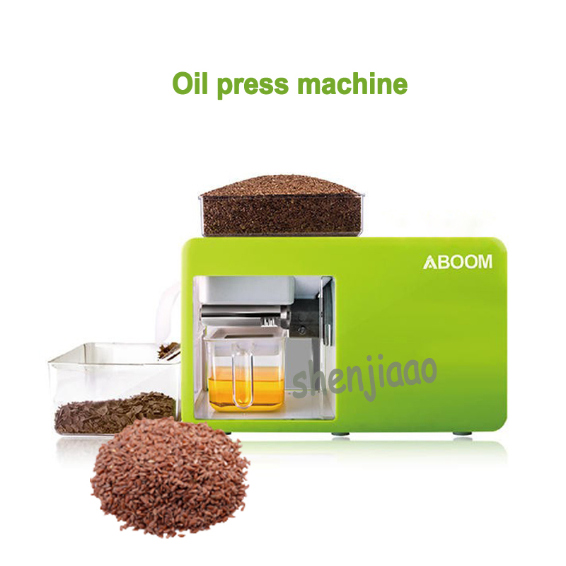 110V/220V 550w Household oil press machine oil expeller for olive soybean Linseed oil pressing machine Peanut Oil Pressers 1pc