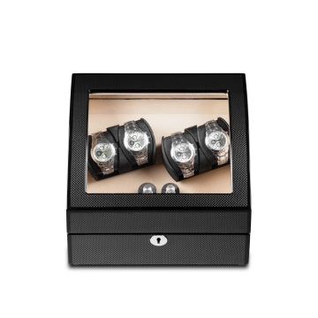 Black Watch Winder With Cream Velvet Interior