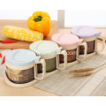Condiment Holder Salt Condiment Container Set of 4