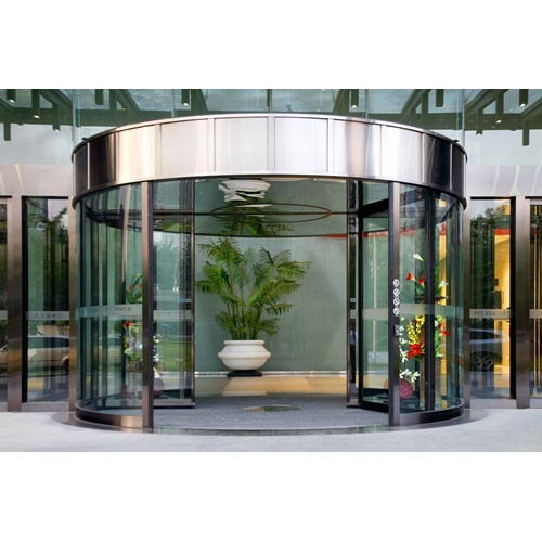 Two-wing Automatic Revolving Doors Scientific Design