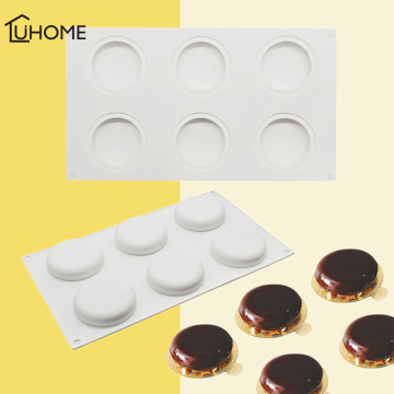 6 Hole Oblate Ball Molds Truffle Moulds Baking Ring Kit Tarte Ring Cake Mold for Dessert Muffin Brownie Pudding Jello Cake Tools