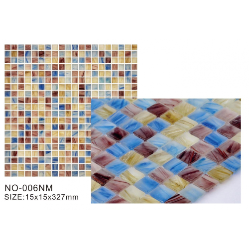 opaque Main color blue glass mosaic tiles