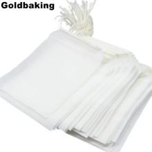 100 Pieces Disposable Filter Empty Teabags Drawstring Herb Loose Tea bag Tea Filter Bags 10*12cm