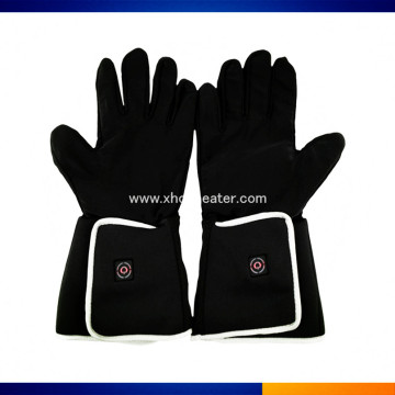 Cowhide Leather Snowboard Battery warmed Gloves