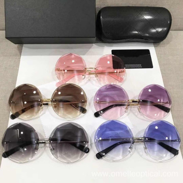 Round Rimless Vintage Sun Glasses Wholesale