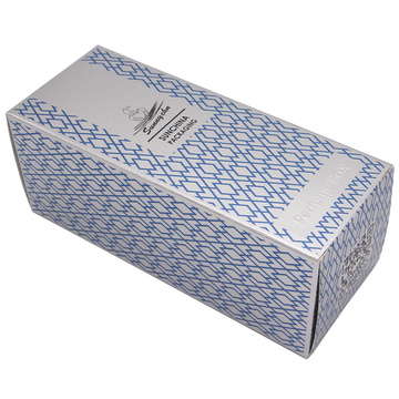 Silver carton perfume skincare box packaging custom logo