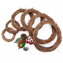 10cm-35cm Rattan Ring cheap Artificial flowers Garland Dried flower frame For Home Christmas Decoration DIY floral Wreaths