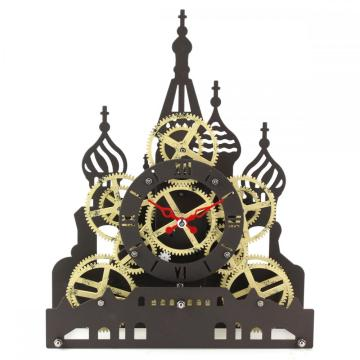 Red Square Gear Desk Clock