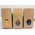 Kraft Paper Flat Bottom Bag For Dried Food