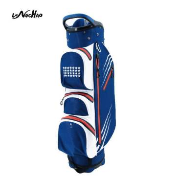 Top1 Lightweight Waterproof Golf Stand Cart Bag Full Length Individual Divider Golf club Bag